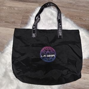 Vtg 90s LA Gear Large Tote Beach Bag